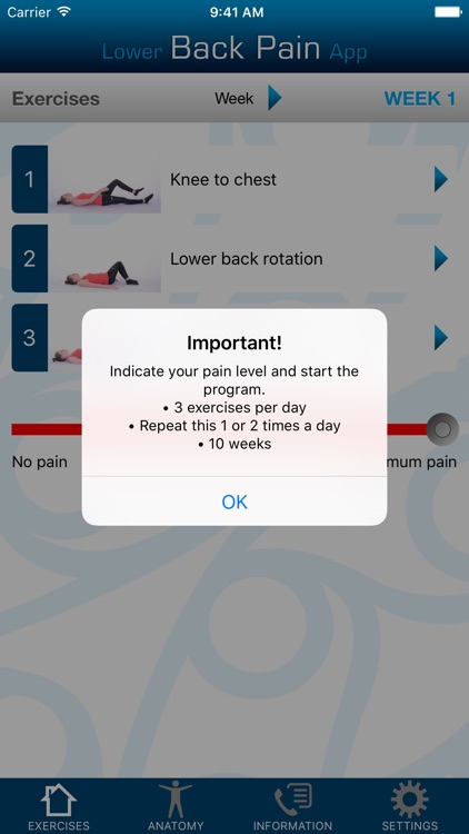 Lower Back Pain App screenshot-0
