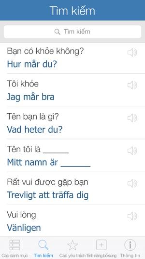 Swedish Pretati - Nói tiếng Thụy Điển với Bản dịch