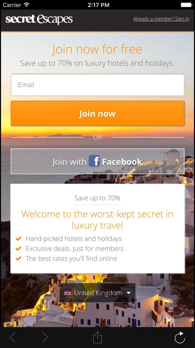 Secret Escapes Screenshot