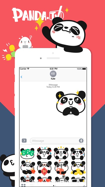熊猫直播贴纸 screenshot-3