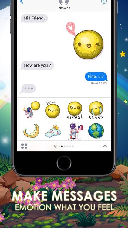 The Moon Emoji Stickers Keyboard Themes ChatStick