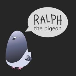 Ralph the Pidgeon - art stickers with pigeon