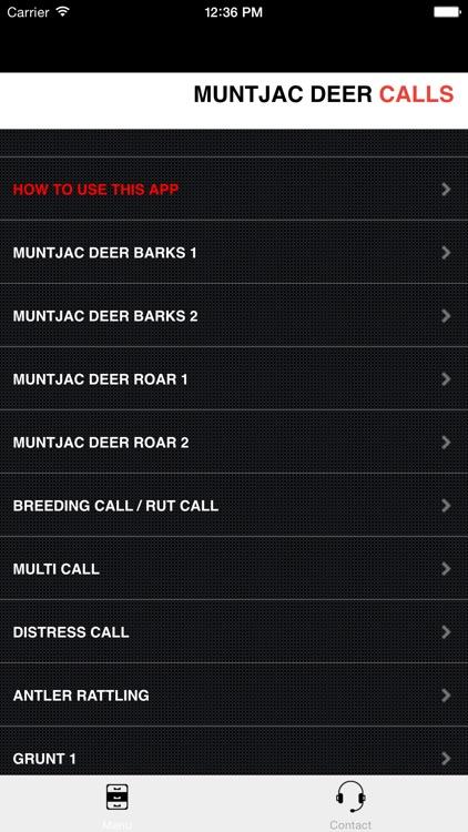 Muntjac Deer Calls Sounds for Big Game Hunting