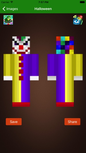 Halloween Skins For Minecraft PE PC Edition Free On The App Store - Skins para minecraft pe de dragon ball z