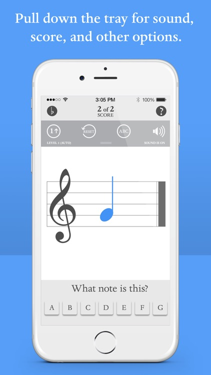Blue Note: Learn to read music notes - Flash Cards screenshot-3