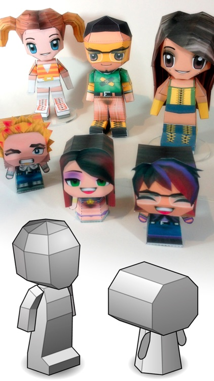 3D Papercraft - Create PaperChibi Avatar screenshot-3