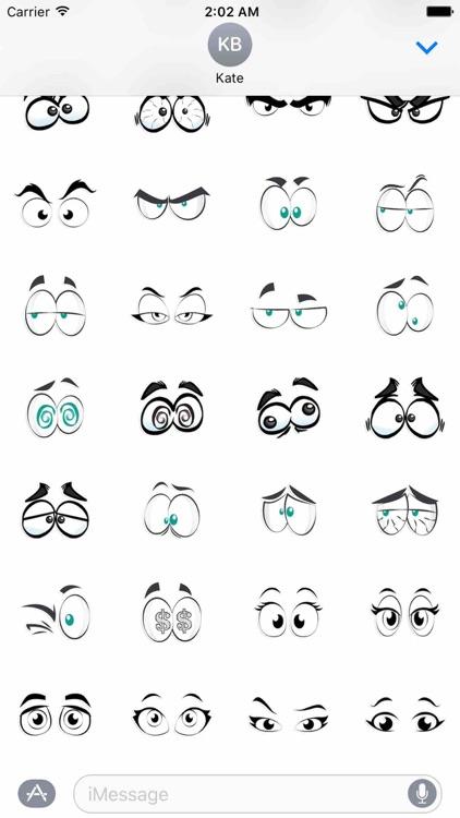 Cartoon Eyes Sticker Pack!