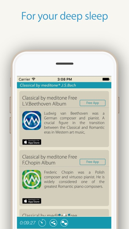 "Relax Classic ""J.S.Bach"" by meditone® screenshot-4"