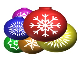 Set of 54 stickers with Xmas Balls