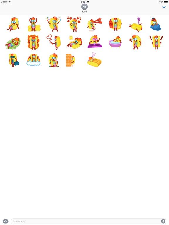 screenshot 1 for foodie food pun hotdog stickers and emojis