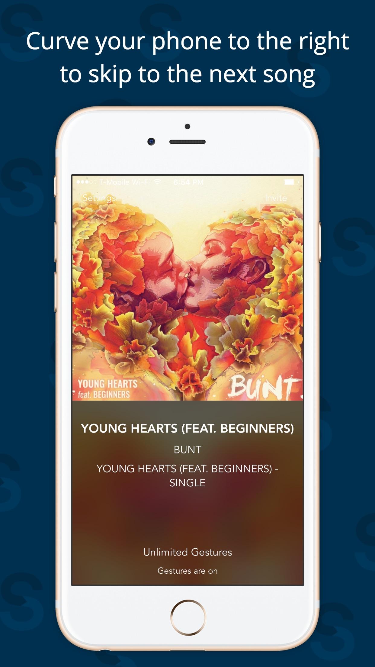 Screenshot do app Swysh - Gesture Based Music Controller