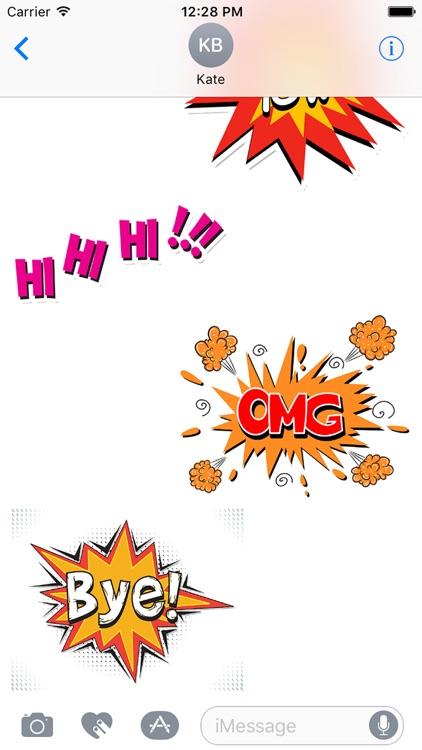 Comic Book Pow Stickers screenshot-3