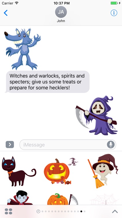Crazy Halloween Sticker for iMessage #4