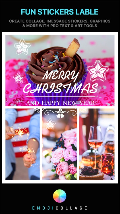 Emoji Collage Pro - Holiday Message Pic Stickers screenshot-4