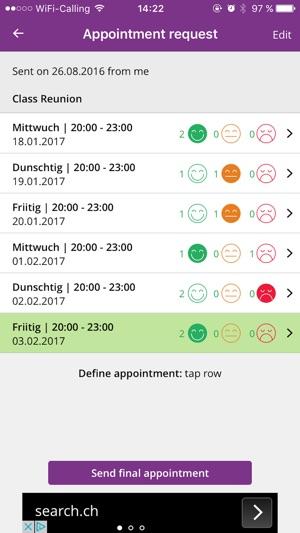 Ting On: Termine finden leicht gemacht on the App Store