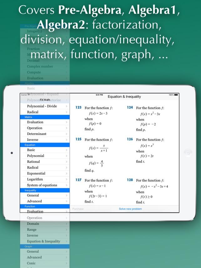 FX Algebra Solver on the App Store