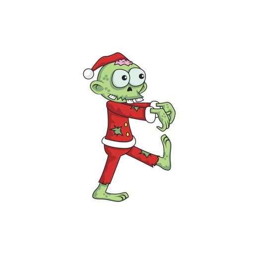 Christmas Zombie Santa.Christmas Xmas Zombie Santa Stickers By Simeon O Connor