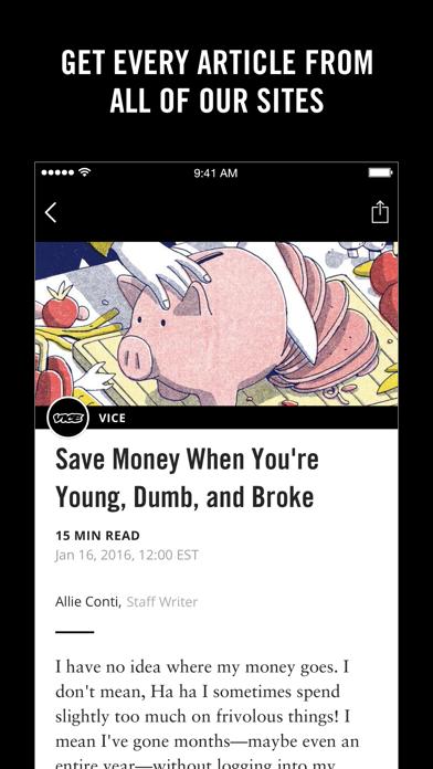 Screenshot 2 for VICE's iPhone app'