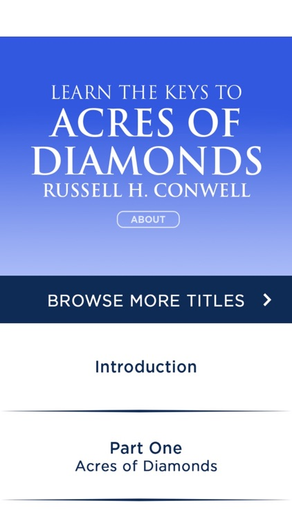 Acres Of Diamonds by Russell Conwell Meditations
