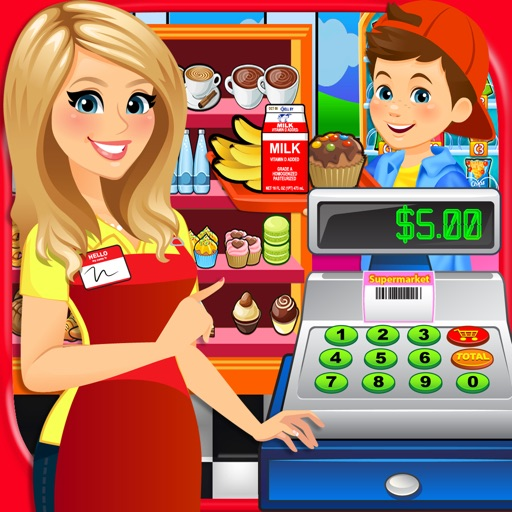 Supermarket School Lunch Food - Cashier Games FREE
