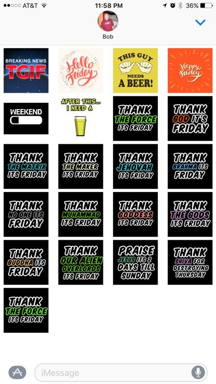 TGIF Stickers