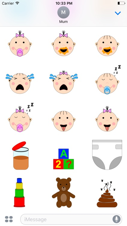 Baby Accessories Sticker screenshot-3