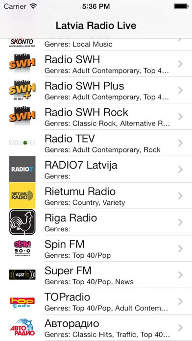 Latvia Radio Live Player (Latvian / Latvija / latviešu valoda) screenshot one