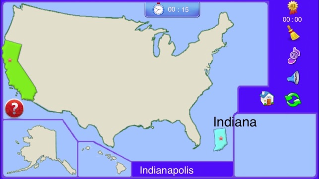 United States Map Game Puzzle.A Puzzle Map Of Usa On The App Store