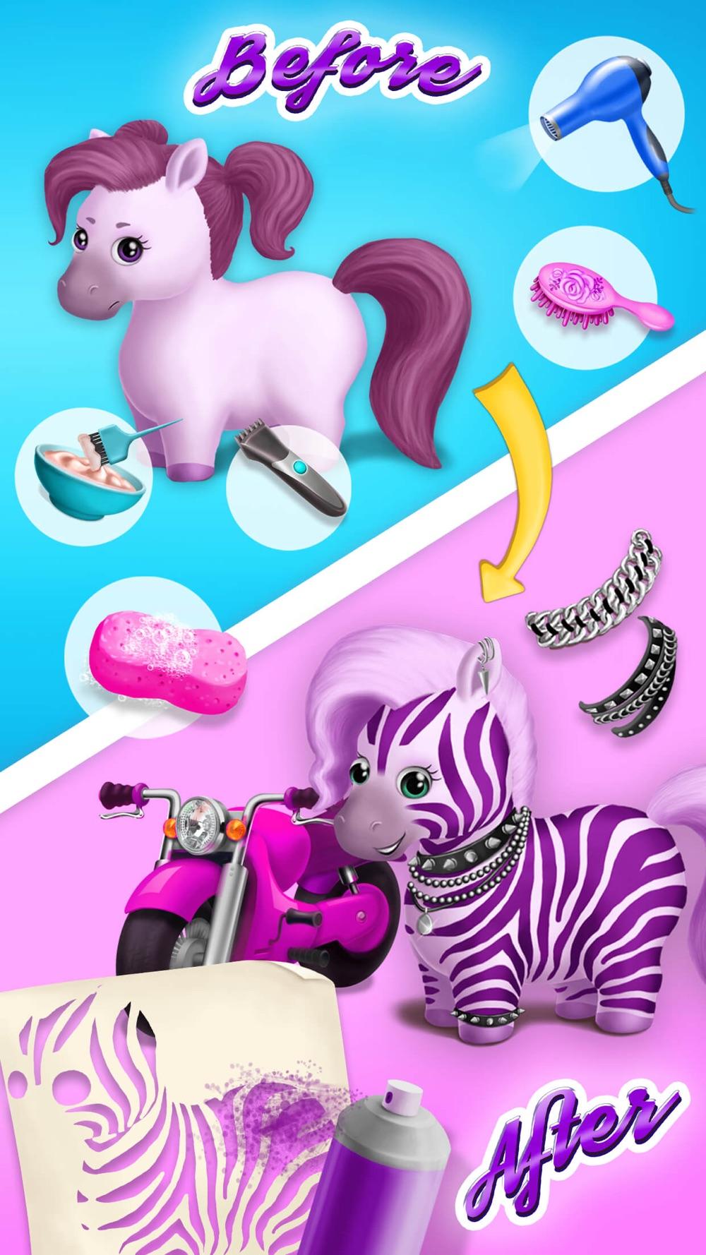 Pony Sisters Hair Salon 2 - Pet Horse Makeover Fun hack tool