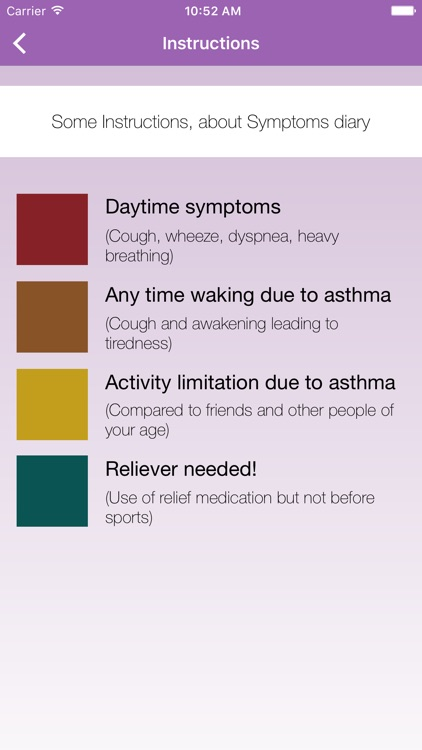 Asthma-Diary screenshot-2