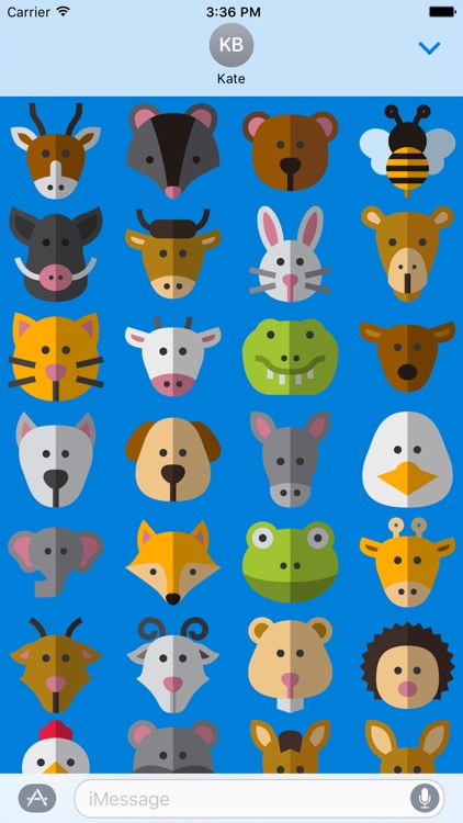 Cute Animals Stickers for iMessage Chat Emojis