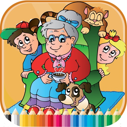 Family Coloring Book - Activities for Kids