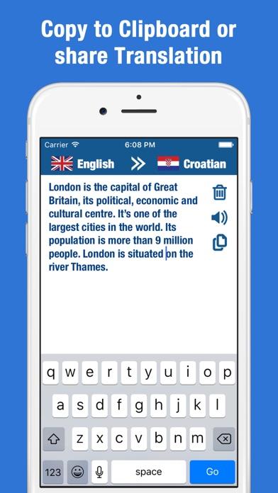 English Croatian Translation and Dictionary screenshot four