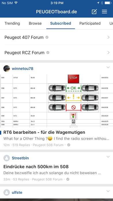 Peugeotboard - Das Peugeot-ForumScreenshot von 1