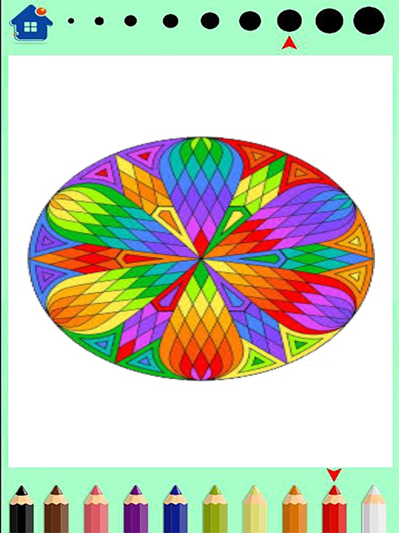 Screenshot 2 For Mandala Coloring Book Finger