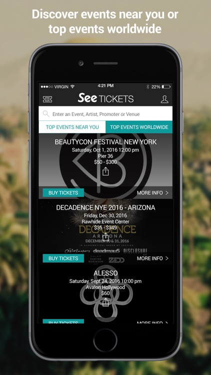 See Tickets US Events