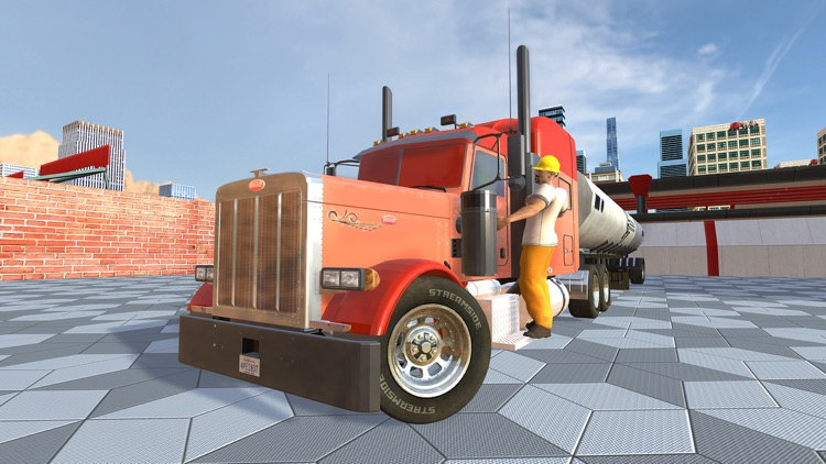 Uphill Cargo Truck Driving 3D - Drive Cargo Truck And Oil Tanker in Offroad & City Environment screenshot-4