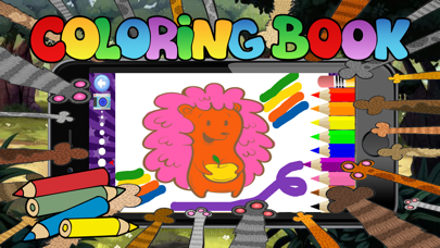 cute animal coloring for kid-learn skill easy toddler game free screenshot three