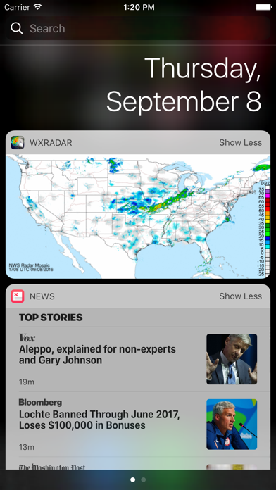 Wxradar review screenshots