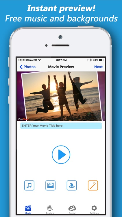 PepBlast Slide Show Maker with Music Pic Slideshow screenshot-3