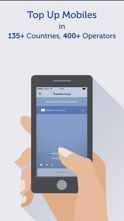 MobileRecharge: Top up mobiles screenshot-0