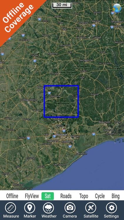 Lake Livingston Texas GPS fishing map offline screenshot-4