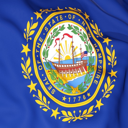 New Hampshire Flag Stickers