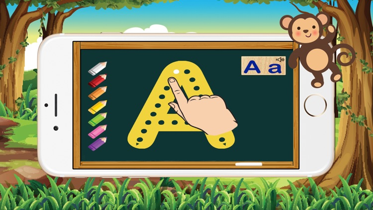 ABC Animals Alphabet Tracing Flash Cards for Kids