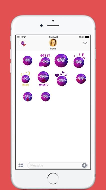 Purple Bubble stickers by Artistakw