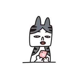 CAT MUSHROOM − NHH Stickers