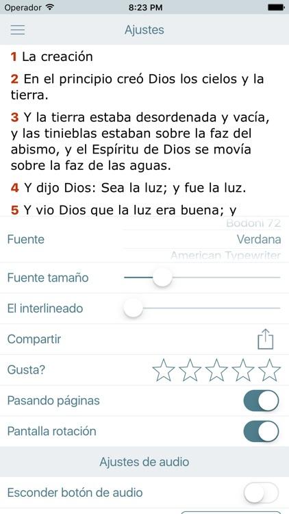 La Biblia Reina Valera en Audio Estudios Biblicos screenshot-4