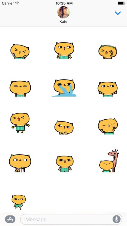 Over Excited Cat Animated Stickers