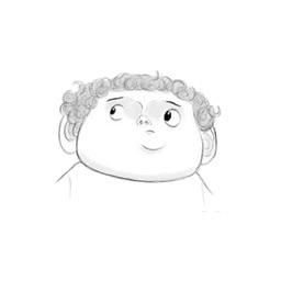 Curly Hair boy - Facial expression