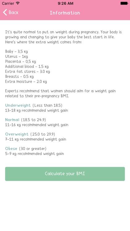Pregnancy Weight Gain Tracker screenshot-3